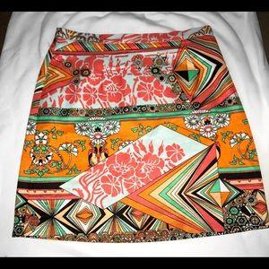 MSGM Spring Collection Orange Patterned Skirt